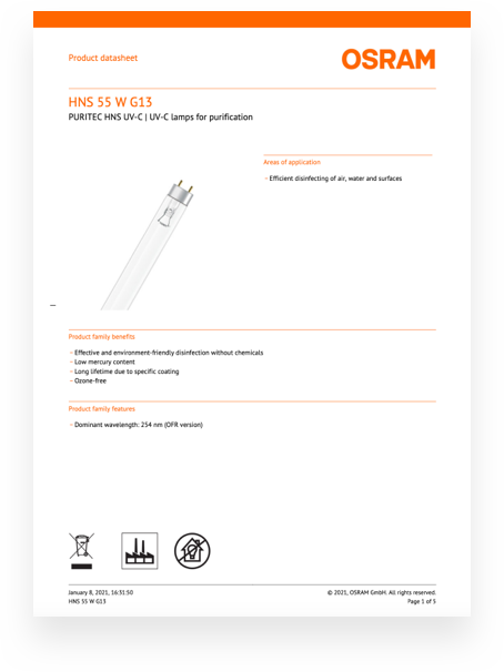 certificates UV Bulbs Technical Information